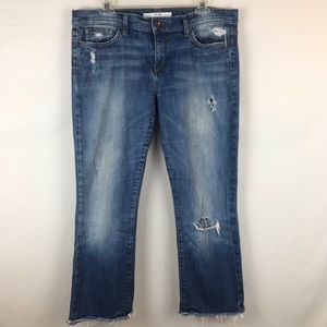 Joe's Jeans Distressed Jeans Frayed Raw Hem Crop